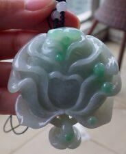 Certified Green Natural A Jade jadeite pendant Rose Flower W Ring 花开富贵 433092