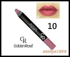 NUOVA GOLDEN ROSE Matte Lipstick Crayon Matita con vitamina E # 10, consegna gratuita