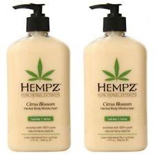 2 Pack Hempz Citrus Blossom Herbal Body Moisturizer Lotion 17oz