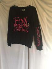 Fox Racing Womens Black Long Sleeve Pull Over Scoop Neck Sweatshirt Pre-owned