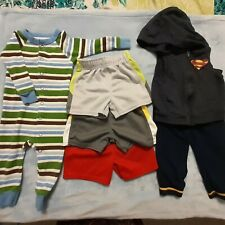 Lot of 6 Baby boys 12 months, Multicolor, striped, solid blue, gray, green