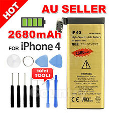 Gold For Apple iPhone 4 Replacement Battery 4G 2680mAh Tools Kit Screwdrivers