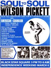 Wilson Pickett / Tina Turner 40.6cm x 30.5cm Photo Repro Concert Affiche