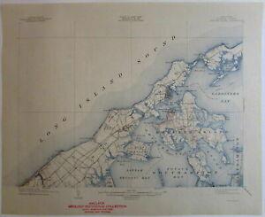 Shelter Island Quadrangle Suffolk NY 1944 Long Island Sound US topo chart