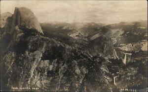 Yosemite - From Glacier Point - PP #1332 c1915 Real Photo Postcard USED