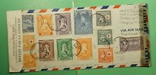 DR WHO 1945 HAITI AIRMAIL TO USA WWII DUAL CENSORED RED CROSS  g09502