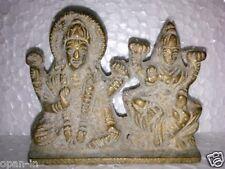 Brass Hindu God Goddess Vishnu and Lakshmi Idol Statue