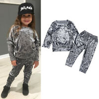 Toddler Kids Baby Girls Autumn Clothes T-Shirt Tops+Pants Outfits Set Tracksuit