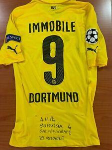 maglia BORUSSIA DORTMUND 9 IMMOBILE INDOSSATA Borussia-Galatassaray 4-1 04.11.14