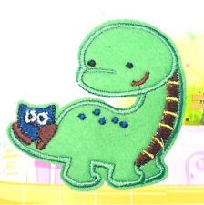 FD2694 Embroidery Cloth Iron On Patch Sewing Motif Applique DIY ~Green Dinosaur~
