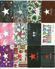 Lot (12) Macy's Gift Cards No $Value Collectible w/ Diecut Reflective Lenticular