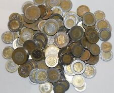 Huge Lot 140+ Bi-Metal Coins from 14 Different Countries~Free Shipping