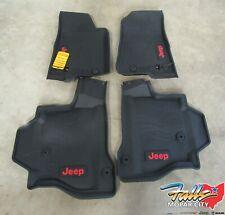 2020 Jeep Gladiator Front & Rear Complete Set Of 4 Rubber Floor Mats Mopar OEM