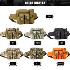 Men Water Bottle Tactical Belt Fanny Pack Waist Bags Bum Pouch Molle Pack Hiking