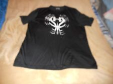 Under Armour Loose Heat Gear Black W/White,And Gray Print Shirt Size Xl