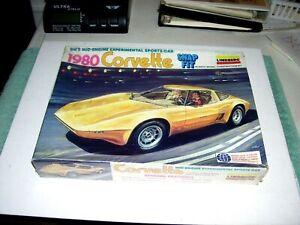 Vintage Lindberg 1980 Experimental Corvette Model Kit 1/18 Scale Factory Sealed