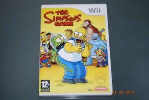 The Simpsons Game Nintendo Wii UK PAL **FREE UK POSTAGE**