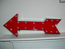 Red Arrow Lighted LED Marquee Sign Wall Decor  ~  NEW