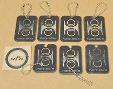 Vintage Hart Skis Silver Black Plastic Key Chain Key Fob Zipper Pulls Lot of 7