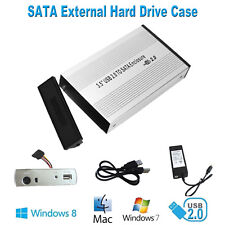 3.5'' USB 2.0 SATA External HDD Hard Drive Enclosure Case Box for PC Laptop