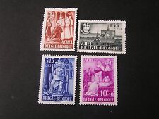 *Belgium, Scott # B447-B450(4),Complete Set 1948 Semi Postal Trappists Abbey Mh