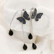 Jewelry Dangle Long Tassel Earrings Rhinestone Ear Stud Butterfly