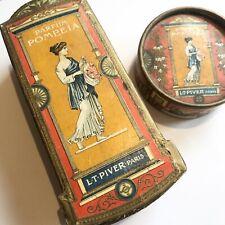 LT Piver Paris POMPEIA Perfume Bottle In Box & Face Powder Advertising Packaging