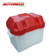 Leisure Battery Box Large (75/85Ah) Red With Strap for Caravan, Boat, Motorhome.