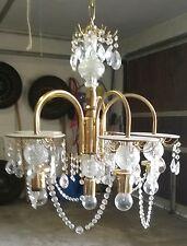 Kronleuchter, Lüster, Deckenlampe, 5-armig, mit Glasbehang
