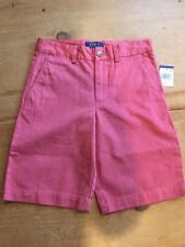 Ralph Lauren Boys Classic Polo Chino  Shorts Size 10 Nantucket Red