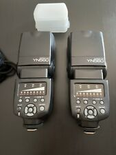 Yongnuo YN-560. Works with Canon and Nikon! Good Starter/Backup Flash X 2