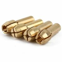 "4pcs Brass Collet Nuts 1/8"" 3/32"" 1/16"" 1/32"" Fits for Power Rotary Tool Useful"