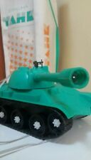 VINTAGE TANK TOY BATTERY OPERATED ORIGINAL BOX USSR RUSSIA CCCP SOVIET ERA