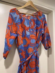 0039Italy Silk Blend Kaftan Dress Size M Worn Once