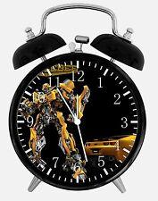 "Transformers Bumblebee Alarm Desk Clock 3.75"" Home Decor Y13 Nice For Gift"