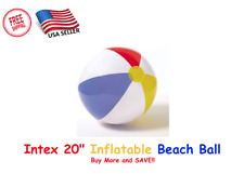 "Intex Inflatable Beach Ball Glossy Panel Ball 20""- NEW"