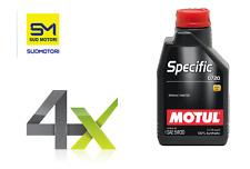 4x MOTUL OLIO SPECIFIC 0720 5W-30 LUBRIFICANTI MOTORE RENAULT RN0720 4 LITRI PER