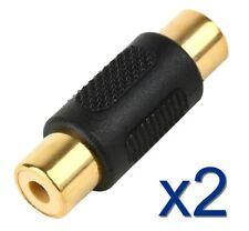 2x RCA Coupleur adaptateur femelle High Quality Coupler Adapter female / female