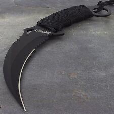 """9.85"""" M-TECH USA TACTICAL COMBAT KARAMBIT FIXED BLADE KNIFE Boot Military"""