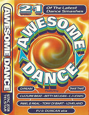 AWESOME DANCE  CASSETTE 21 TRACKS DREAM CULTURE BEAT FRANKIE GOES 2 UNLIMITED