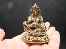 Tibetan 19th century nice gilt bronze small buddha   a4821