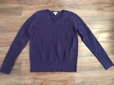 Women's Purple Long Sleeve Sweater Size XL Large Cherokee GUC