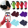 1 Pair Men Women Fingerless Half Finger Gloves Winter Warm Knitted Mittens AU
