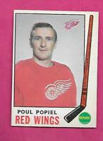 1969-70 OPC # 158 RED WINGS POUL POPIEL EX-MT  CARD (INV# C5809)