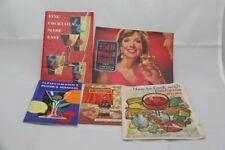 Lot of 5 Vintage Cocktail Recipe Booklets Toasts Fleischmanns DuBouchett Ca Wine