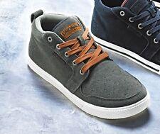 Jack & Jones De Hombre Talla 7 Gamuza Entrenador De Corte Medio/Zapato Smart Casual Gris Nuevo Y En Caja