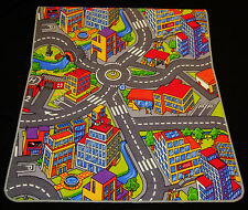 Dess. 1)  Kinderteppich Teppich Straßen Spielteppich 120cm x 160cm