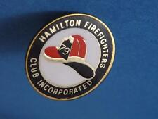HAMILTON FIREFIGHTERS INCORPORATED HELMET 79 PIN BACK VINTAGE CANADA SOUVENIR
