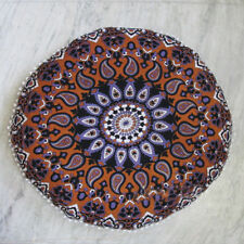 """New 32"""" Mandala Round Cushion Cover Decorative Cotton Large Pillow Case Cover"""