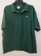 Lacoste Classic Fit Alligator Polo Shirt Green Mens Size FR 9 US 3XL Pre-owned